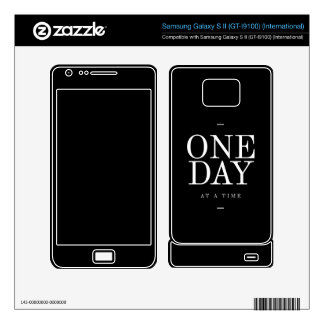 One Day Study Motivational Quote Black and White Samsung Galaxy S II Skins