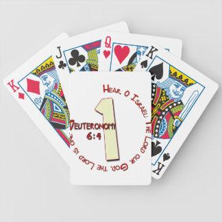 ONE Deuteronomy 6:4 SHEMA Bicycle Playing Cards