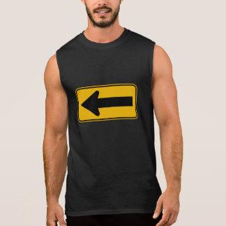 One Direction Arrow Left, Traffic Warning Sign, US Sleeveless Shirt