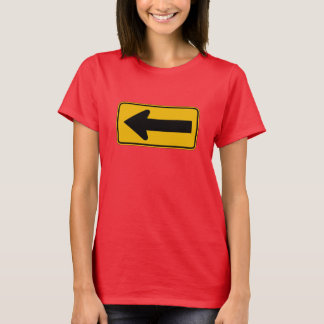One Direction Arrow Left, Traffic Warning Sign, US T-Shirt