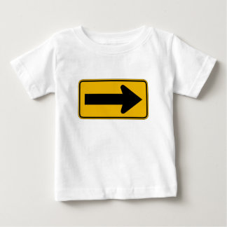 One Direction Arrow Right, Traffic Warning Signs Baby T-Shirt