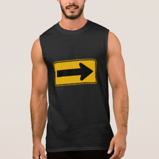 One Direction Arrow Right, Traffic Warning Signs Sleeveless Shirt