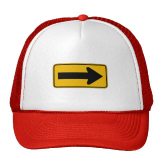 One Direction Arrow Right, Traffic Warning Signs Trucker Hat