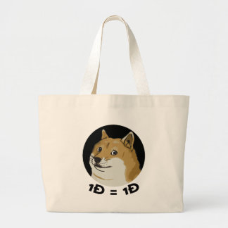 One Doge = One Doge Dogecoin Tote