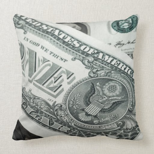 Throw Pillows Under 5 Dollars : One Dollar Bill Throw Pillow Zazzle
