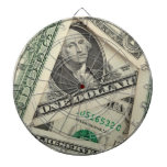 One Dollar Bills Dartboard With Darts