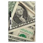 One Dollar Bills Dry-Erase Whiteboards