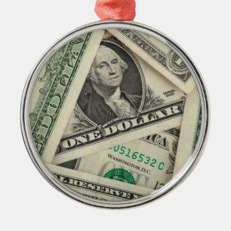 One Dollar Bills Christmas Tree Ornament