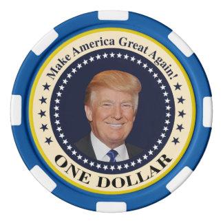 one dollar trump poker chip set