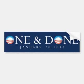 One & Done Obama Bumper Sticker