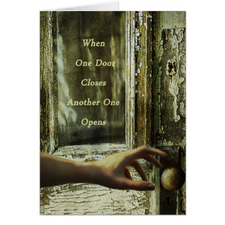 One door closes recovery encouragement card