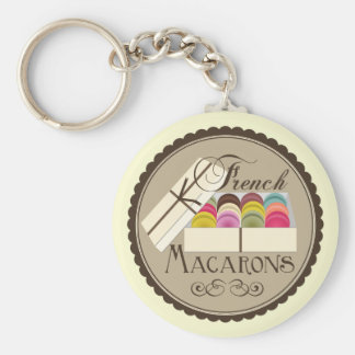 One Dozen French Macarons In A Gift Box Basic Round Button Keychain