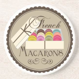 One Dozen French Macarons In A Gift Box Sandstone Coaster