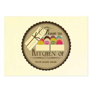 One Dozen French Macarons Set Of 100 Recipe Cards Large Business Cards (Pack Of 100)
