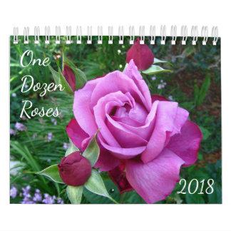One Dozen Roses Photo Calendar 2018