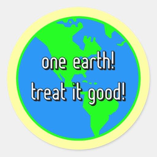 One earth classic round sticker