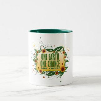One Earth One Chance Two-Tone Coffee Mug