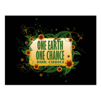One Earth One Chance Postcard