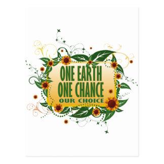 One Earth One Chance Postcard