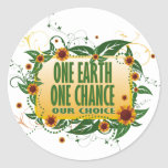 One Earth One Chance Stickers