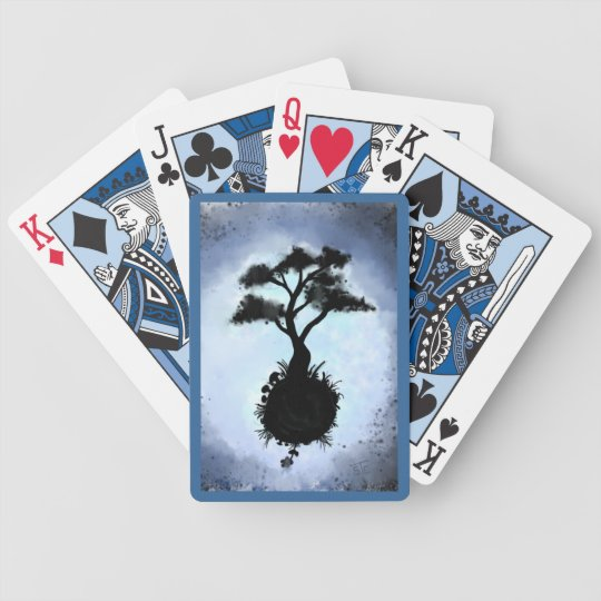 One Earth Spirit Tree Bicycle Playing Cards