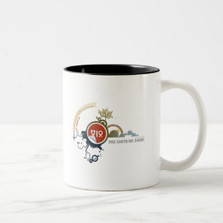 One Earth We Share Two-Tone Coffee Mug