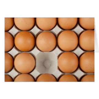 One egg missing card