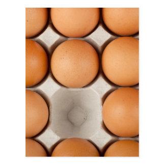 One egg missing postcard