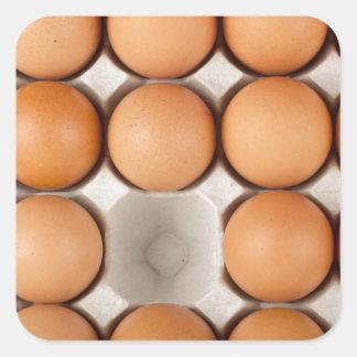One egg missing square sticker