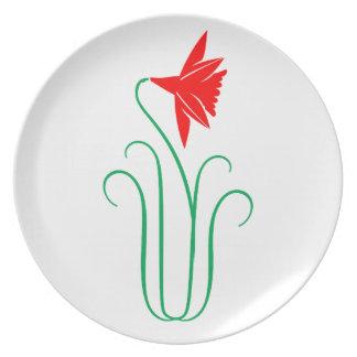 One ELEGANT Flower Show Dinner Plates