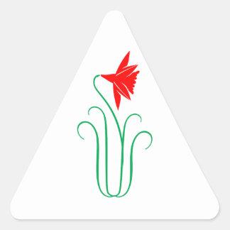 One ELEGANT Flower Show Triangle Sticker
