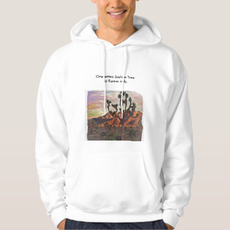 One Enters Joshua Tree by Karma Only Hoodie