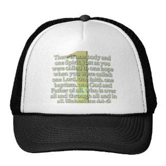 ONE  Ephesians 4:4-6 BIBLE SCRIPTURE Hats