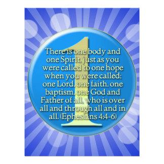 ONE  Ephesians 4:4-6 BIBLE SCRIPTURE Customized Letterhead