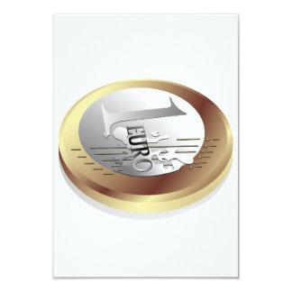 One Euro Coin Invitations