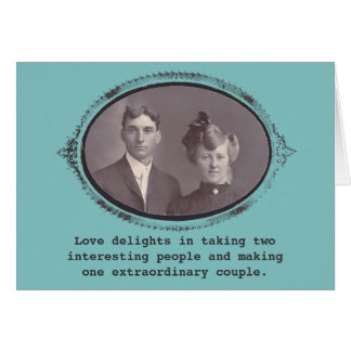 One extraordinary couple Vintage Photo Greeting Cards