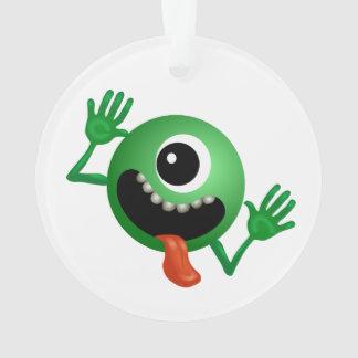One eye monster cartoon