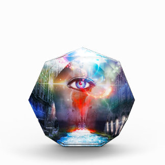 One Eye That Sees Acrylic Octagon Award