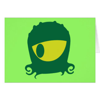 One eyed Alien creature Greeting Card