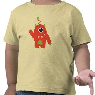 One eyed alien orange & green toddlers t-shirt