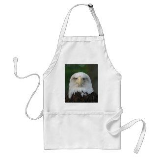 One-Eyed American Bald Eagle Adult Apron