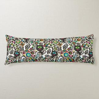 One Eyed Black Cat Body Pillow