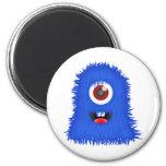 One eyed blue monster fridge magnets