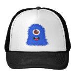 One eyed blue monster trucker hats