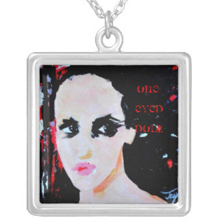 One-Eyed Doll necklace , batson painting of Rock S