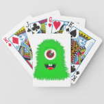 One eyed green monster bicycle poker cards