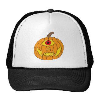 One Eyed Halloween Pumpkin Art Hats