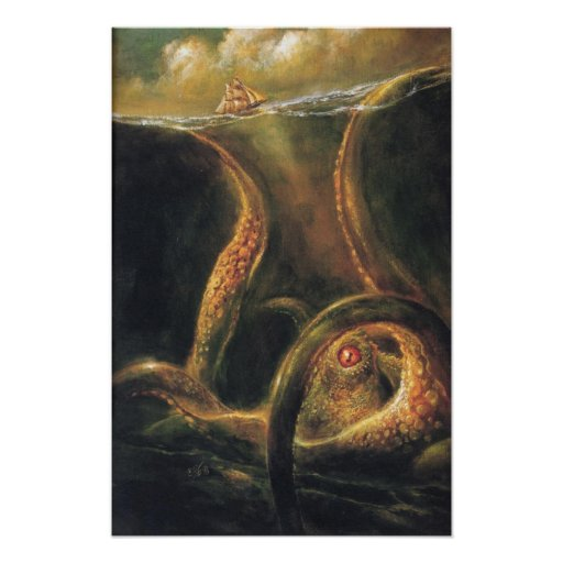 One-Eyed Hell of the Sea Print