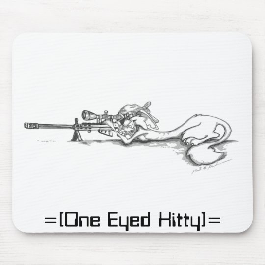 One Eyed Kitty Mouse Pad