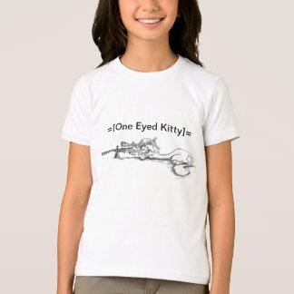 One Eyed Kitty Ringer T T-Shirt
